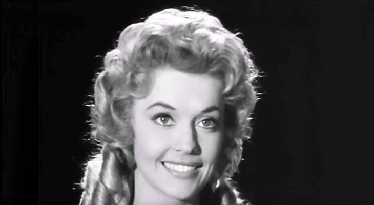 donna douglas 1961, donna douglas younger, american actress, beverly hillbillies tv series, elly may character, gospel music singer, christian children's books author, frankie and johnny movie, elvis presley costar, louisiana natives, 1960s television series, boris karloffs thriller guest star, the hungry glass episode