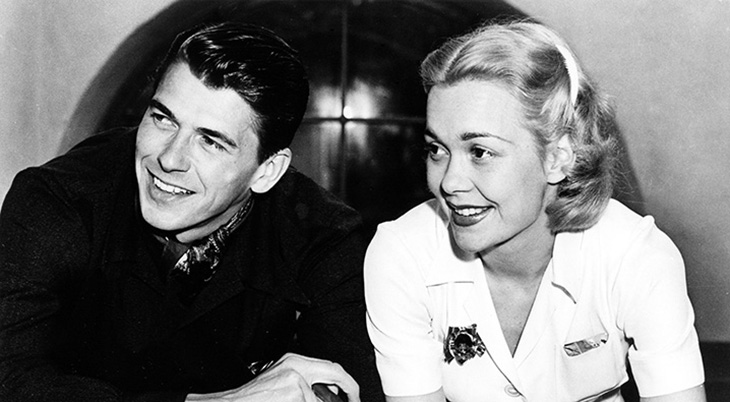 jane wyman 1940, american actress, jane wyman younger, ronald reagan 1940, american presidents, married ronald reagan 1940, wyman reagan honeymoon