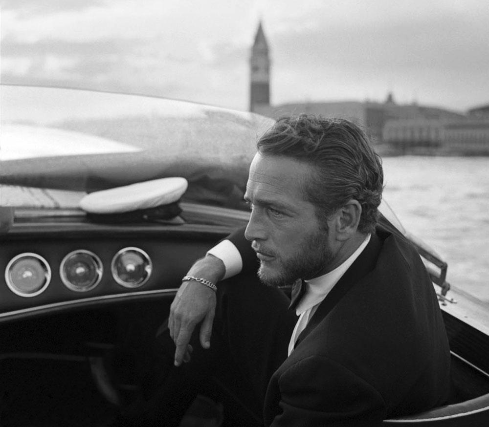 paul newman 1963, american actor, paul newman in venice