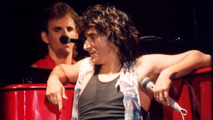 steve perry 1986, american singer, rock vocalist, 1980s rock bands, journey lead singer, 1970s lead rock singer, 1980s hit rock songs, oh sherrie, open arms, dont stop believin