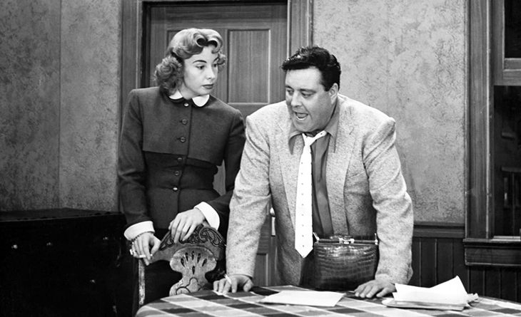 the honeymooners cast 1956, audrey meadows, alice kramden, jackie gleason, ralph kramden, 1950s tv sitcoms, 1950s television shows, american actors