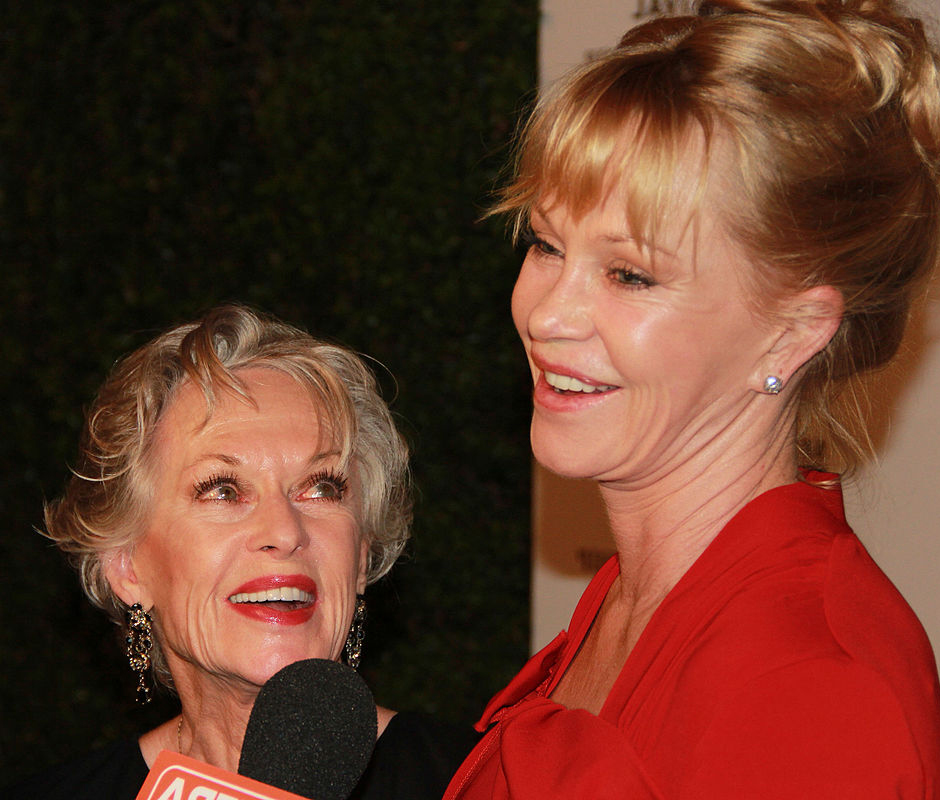 tippi hedren 2014, daughter melanie griffith, mother and daughter, older, american actresses, movie stars, senior citizen