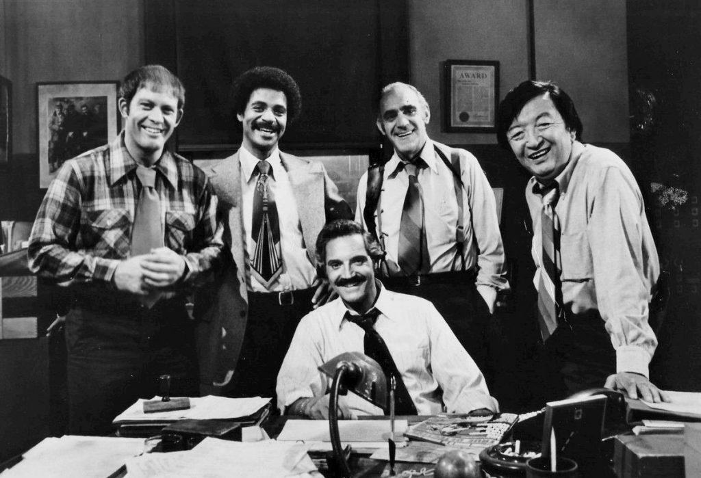 barney miller cast 1977, 1970s tv show, 1970s sitcom, actors, hal linden, captain barney miller, abe vigoda, phil fish, max gail, wojo wojciehowicz, ron glass, ron harris, jack soo, nick yemana, boomer television, seniors