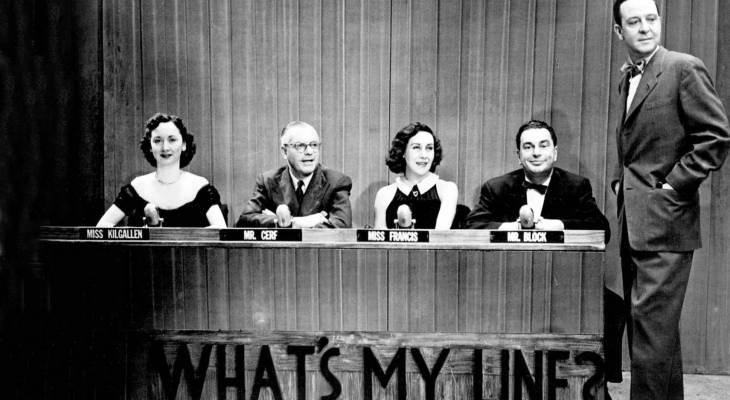 whats my line 1952, tv game shows, dorothy kilgallen, bennett cerf, arlene francis, john charles daly host, hal block