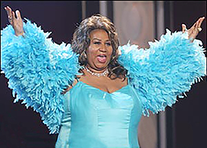 aretha franklin 2008, african american singer, songwriter, grammy awards, rock and roll hall of fame, hit songs, respect, you make me feel like a natural woman, think, whos zoomin who, i say a little prayer, aretha franklin older