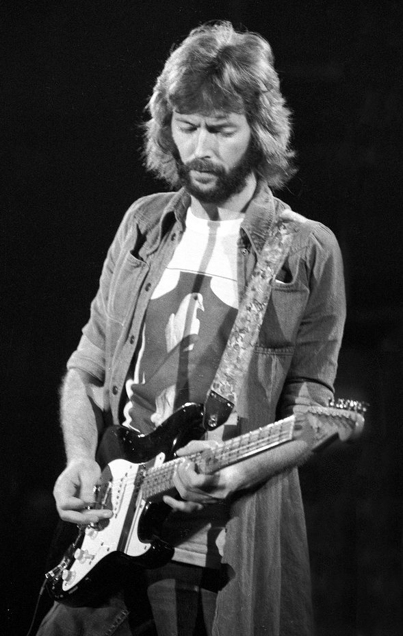 eric clapton 1975, 1970s eric clapton, eric clapton younger, english guitarist, british songwriter, singer, 1970s hit songs, layla, you look wonderful tonight