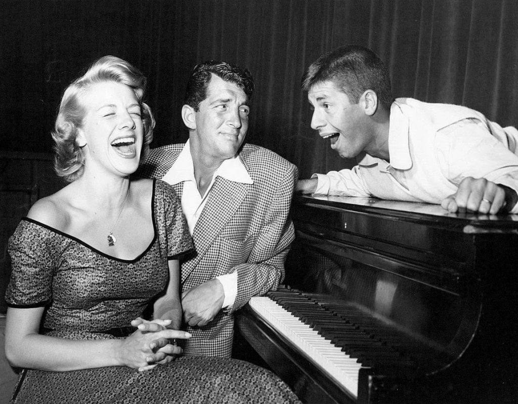 jerry lewis 1952, dean martin, martin and lewis, comedians, rosemary clooney, the colgate comedy hour, 1950s television