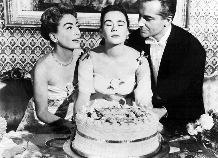 joan crawford 1957, american actress, rossano brazzi costars, heather sears, joan crawford older, 1950s movies, the story of esther costello, 1950s movie stars,