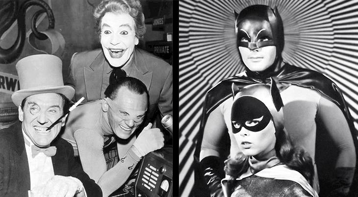 tv shows, batman, 1960s, american actors, adam west, yvonne craig, batgirl, burgess meredith, the penguin, frank gorshin, the riddler, cesar romero, the joker, film stars
