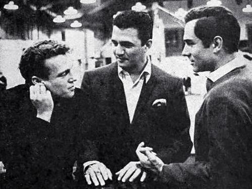 bobby vinton, buddy greco, american singers, actors, george maharis, 1963,