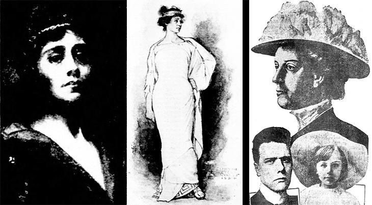 eleanor calhoun, american actress,1894, clinton peters illustrations, william randolph hearst fiancee, princess hrebelianovich, prince lazarovich hreblianovich, princess mara hreblianovich, serbia, 1912,