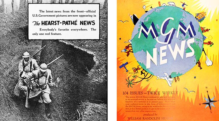 hearst pathe news, newsreels, 1918, william randolph hearst, mgm news, news producer, 1929