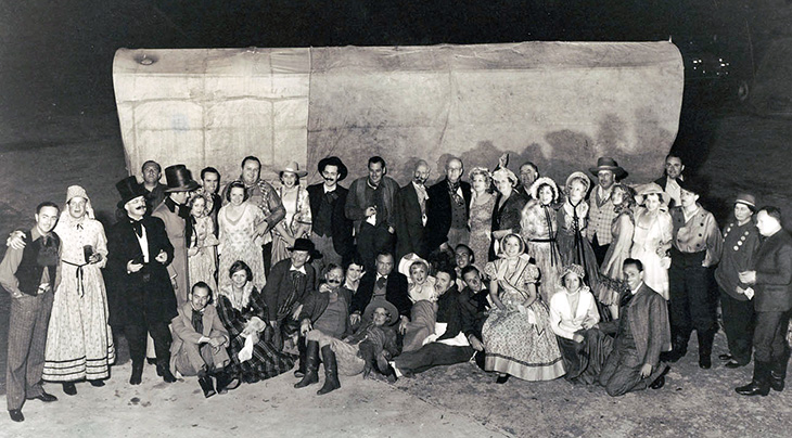william randolph hearst, 70th birthday party, costume party, covered wagon, 49er party, western theme, william powell, marion davies, san simeon, hearst castle, hearst ranch, 1933