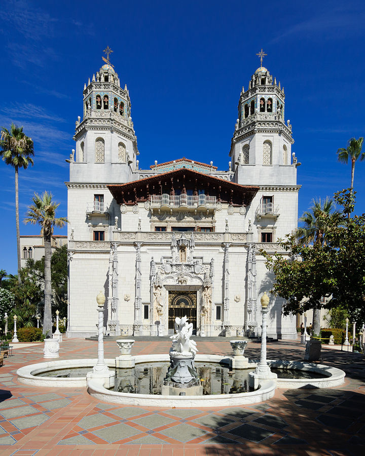 william randolph hearst, hearst castle, casa grand, 2012, front of castle
