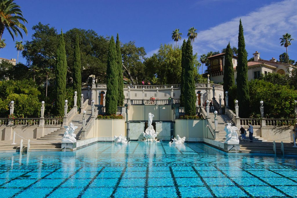 william randolph hearst, hearst castle, neptune pool from below, 2012