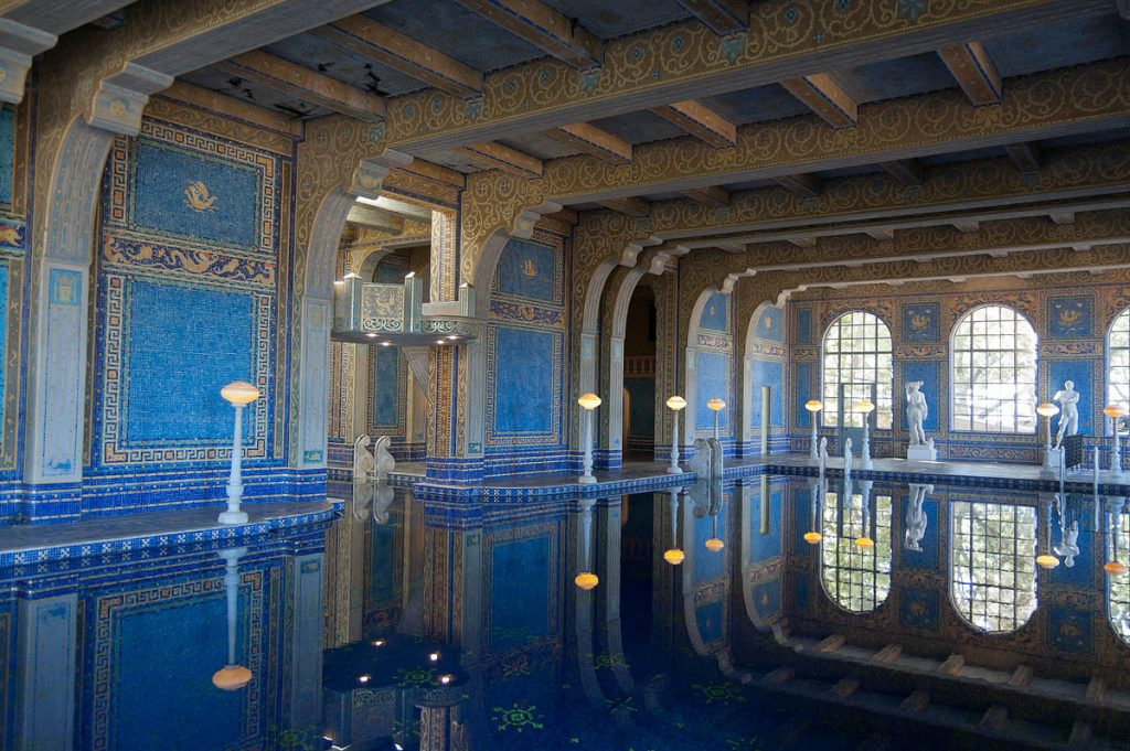 william randolph hearst, hearst castle, indoor roman pool, roman pool complex