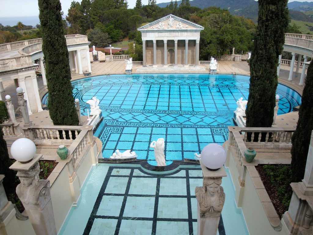 william randolph hearst, hearst castle, neptune pool, 2009