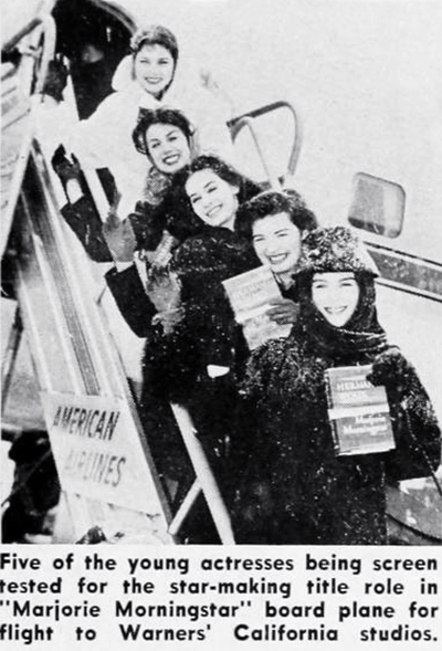 1957, american actresses, 1958 movies, marjorie morningstar, herman wouk books