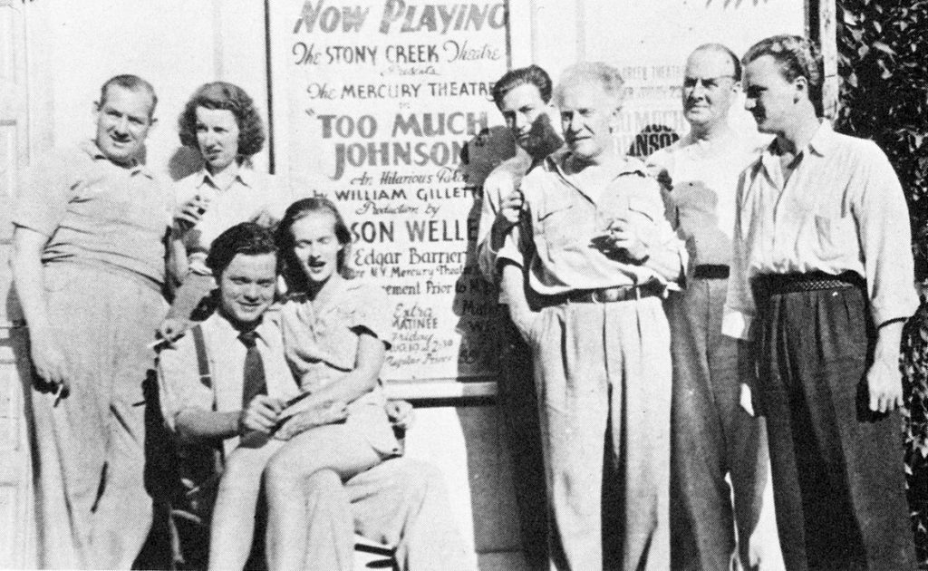 orson welles, 1938, wife virginia welles, mary wickes, joseph cotten, erskine sanford, too much johnson, 1938 stage play, stoney creek theatre, connecticut