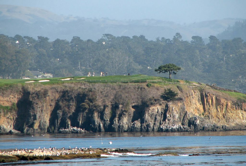 clint eastwood owner, pebble beach golf links, 6th hole, california