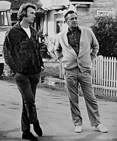 clint eastwood 1973, william holden, 1973 movies, breezy, romantic comedy movies, american actors, eastwood director, on set, behind the scenes