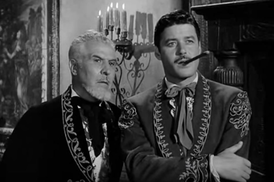 guy williams, george j lewis, american actors, 1961 zorro, de la vega father and son, don diego de la vega, don alejandro de la vega
