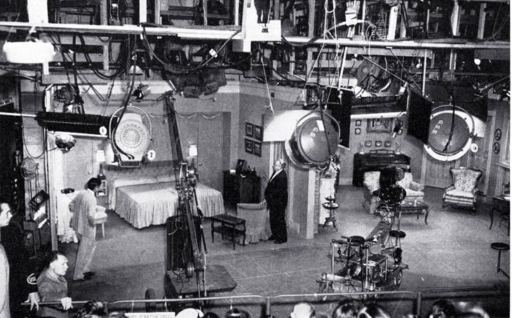 i love lucy, 1952, television set, television series, filming, props, cameras, soundstage, tv shows, sitcoms,