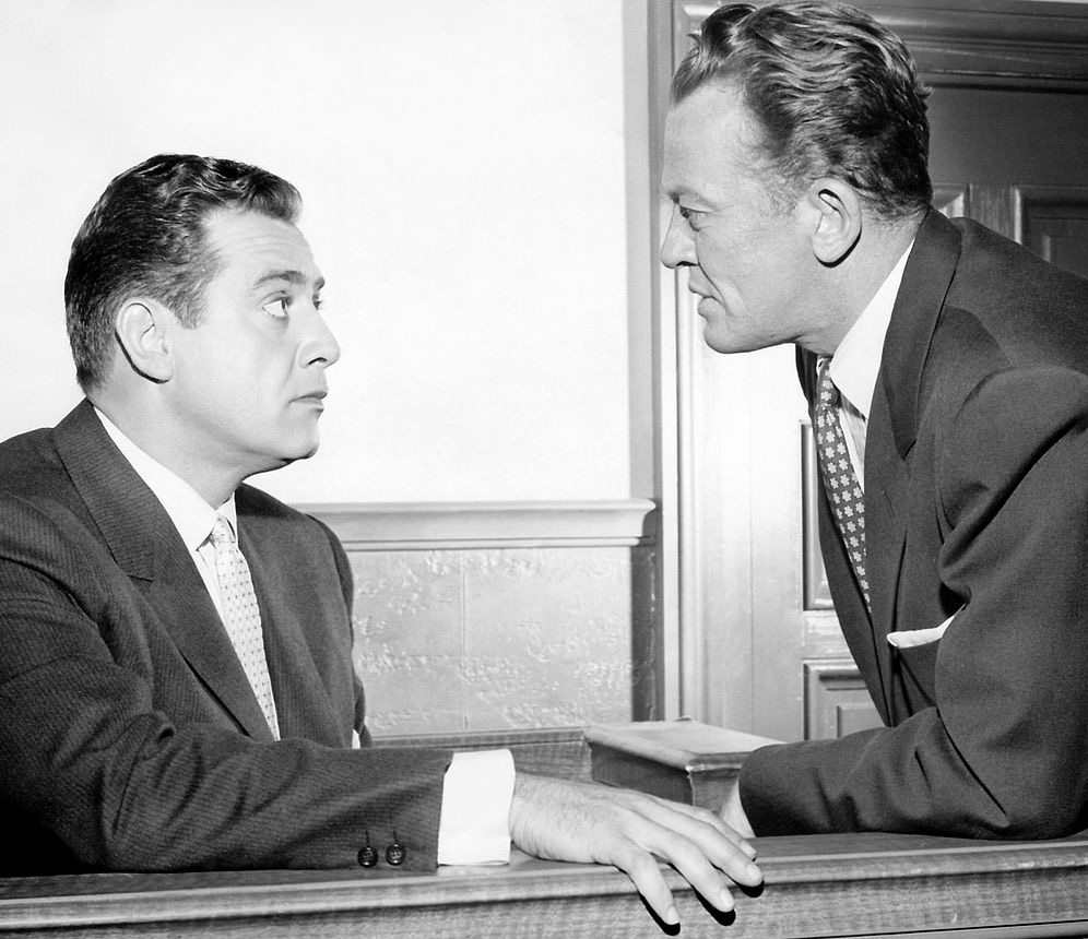 perry mason 1958, raymond burr, william talman, district attorney, hamilton burger