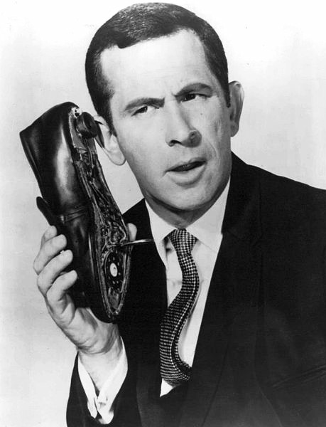 don adams 1968, american actor, 1960s television sitcoms, 1960s tv series, get smart agent 86, maxwell smart tv character, the shoe phone