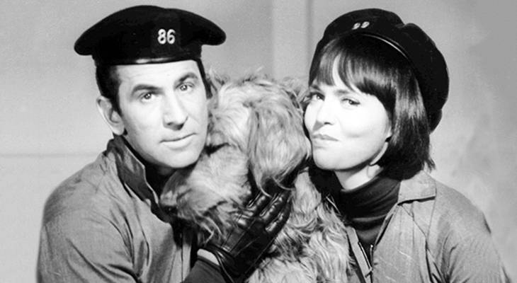 don adams 1966, barbara feldon, 1960s television series, get smart agent 86, get smart agent 99, dog fang, 1960s tv sitcoms