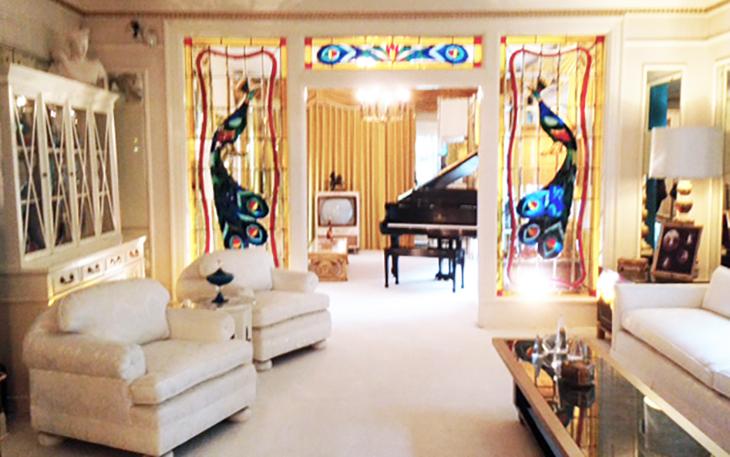elvis presley, american singer, rock and roll, rock singer, graceland, 1970s living room, memphis, tennessee, mansion, private home, museum, estate, landmark,