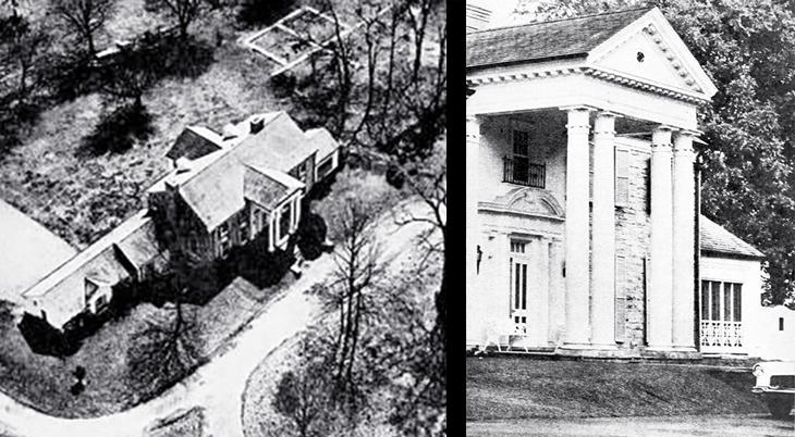 elvis presley, private home, american singer, graceland, memphis, tennessee, mansion, estate, 1957, 1960, tourist attraction, american landmarks