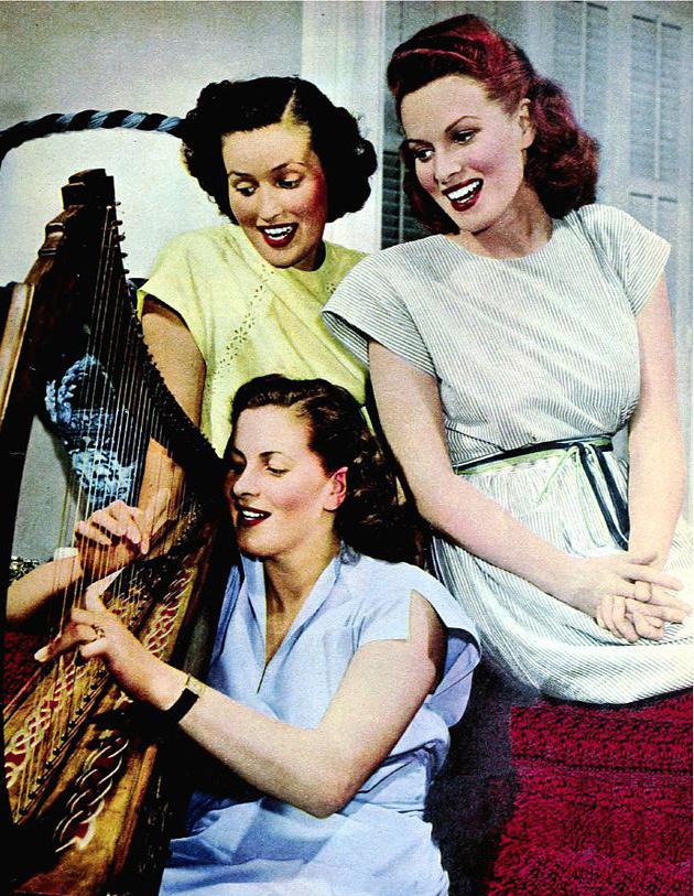 maureen ohara 1947, irish american actress, sisters, margot fitzsimons ohara, florrie fitzsimons ohara, 1940s actresses