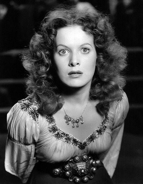 maureen o'hara 1939, irish american actress, 1930s movie star, nee maureen fitzsimmons