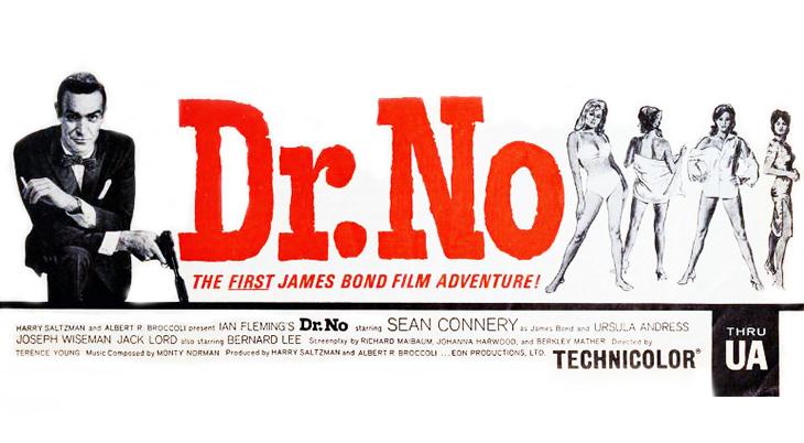 james bond movies, 1963 films, sean connery, dr no, ursula andress,