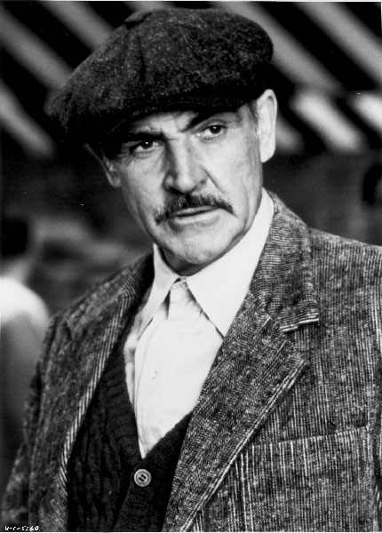 sean connery 1970s, scottish actor, 1980s movies, the untouchables