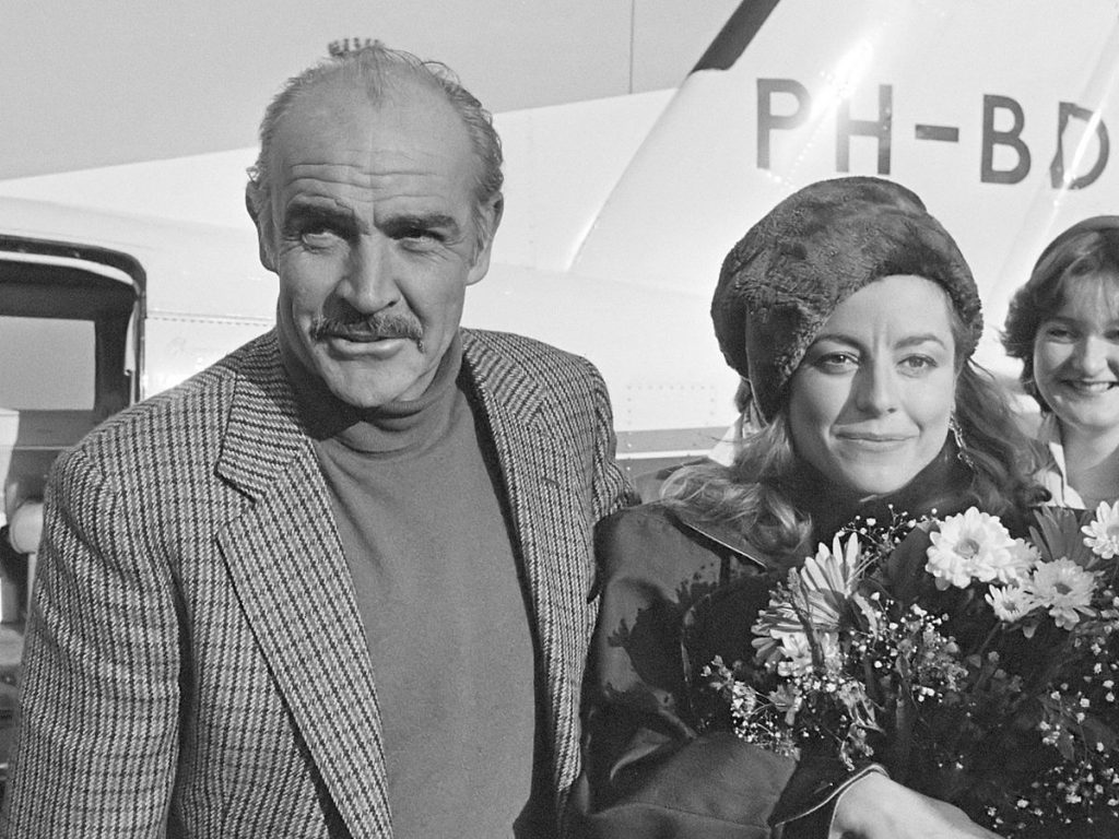 sean connery 1983, wife micheline roquebrune, married