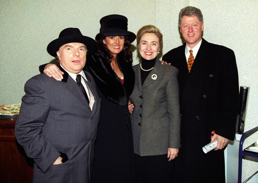 van morrison 1995, irish musican, 1990s rock singer, president bill clinton, first lady hilary rodham clinton