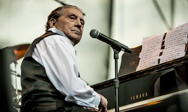 jerry lee lewis 2011, american singer, songwriter, musician, pianist, piano player, older, senior citizen, octogenarian