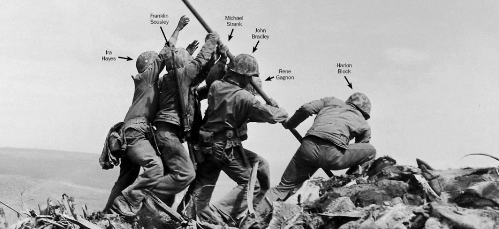1945 february, february 1945, baby boomers, baby boomer trivia, baby boomer generation, seniors, senior citizen, septuagenarian, world war ii, wwii, american soldiers, battle of iwo jima, american flag on iwo jima, joe rosenthal photograph