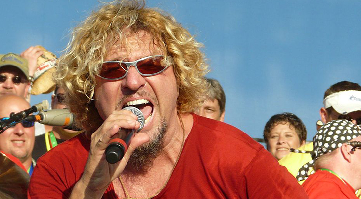 sammy hagar 2008, american singer, songwriter, rock and roll hall of fame, rock singer, in concert