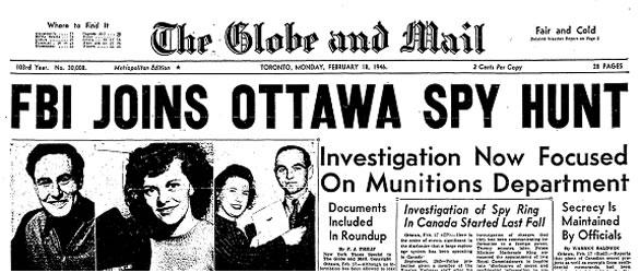 1945 September gouzenko headlines