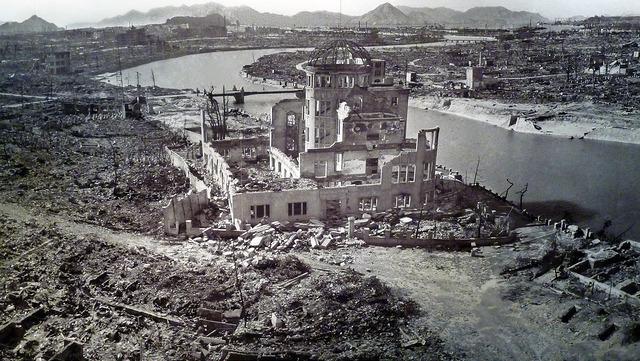 hiroshima dome, 1945, bomb site, world war ii, little boy atomic bomb, august 6 1945
