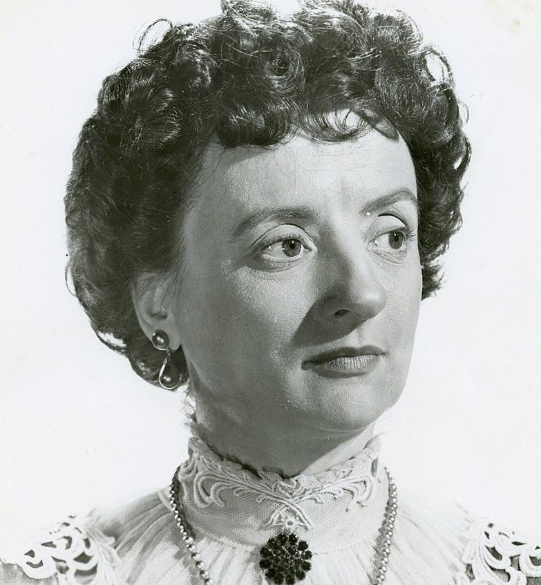mildred natwick 1947, american actress, 1940s movies, the enchanged cottage, yolanda and the thief, 3 godfathers, she wore a yellow ribbon, 1940s movies, cheaper by the dozen, the quiet man, the trouble with harry, the court jester, tammy and the bachelor, 1960s movies, barefoot in the park, if its tuesday this must be belgium, 1970s movies, daisy miller, at long last love, do not fold spindle or mutilate, 1970s television shows, 1970s tv movies, the snoop sisters, gwendolyn snoop nicholson, 1980s movies, kiss me goodbye, dangerous liaisons,