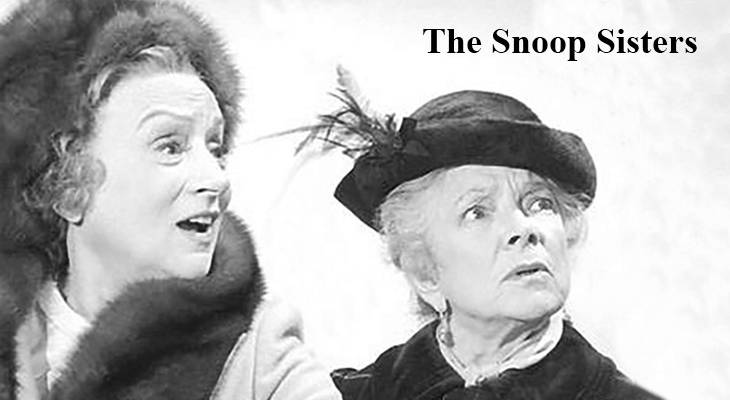 the snoop sisters, 1970s television series, american actresses, helen hayes, mildred natwick, boomer tv trivia, baby boomers, elderly sisters television shows, older women movie stars,