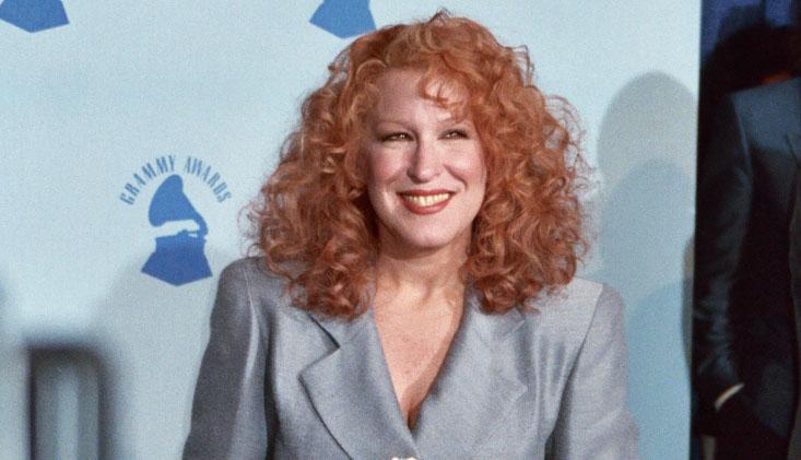 bette midler 1990, american singer, comedian, actress, grammy awards