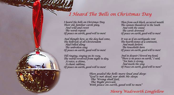 i heard the bells on christmas day, best christmas songs, christmas poems, henry wadsworth longfellow poetry, christmas bells poem, fanny longfellow, frances longfellow, charles longfellow, peace on earth, goodwill to men, jimmie rodgers christmas songs, bing crosby sings christmas songs, johnny cash, the carpenters, rockapella, sarah mcLachlan, jason castro, johnny reid, classic christmas songs, sad christmas songs, hopeful christmas songs,