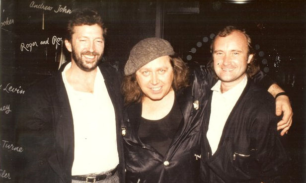 phil collins, 1980s, eric clapton, english musicians, singers, songwriters, sam kinison, american comedian