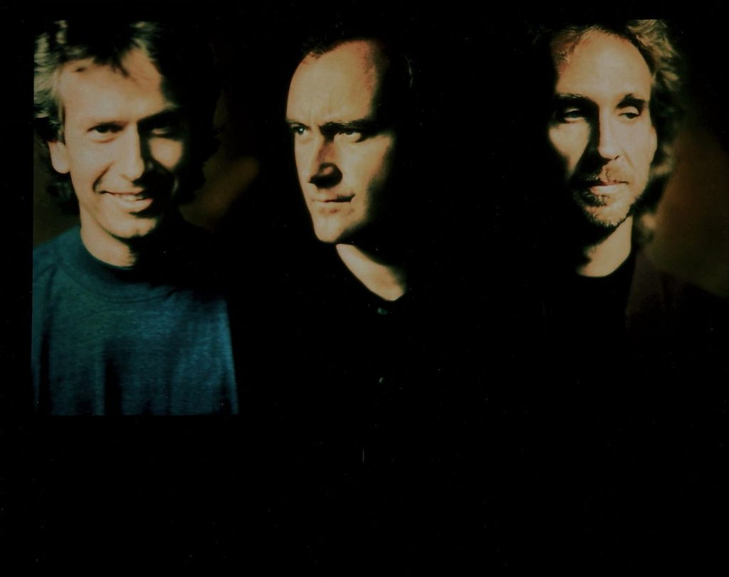 phil collins 1991, genesis band, tony banks, mike rutherford, younger, english rock band