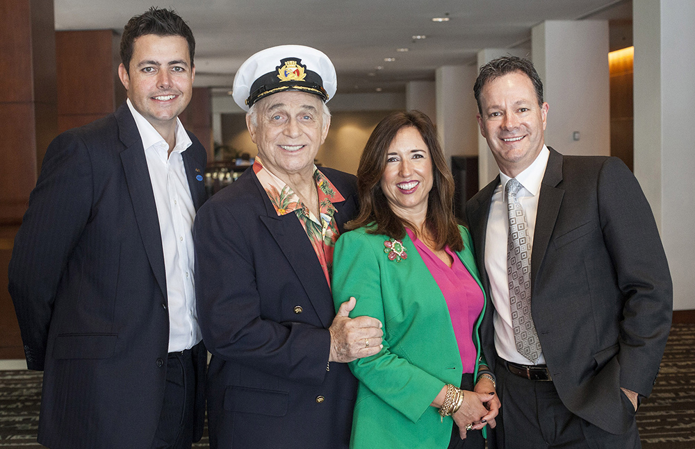 gavin macleod 2014, octogenarian, senior citizen, american actor, princess cruises, stuart allison vp, clia president christine duffy, clia australasia gm brett jardine